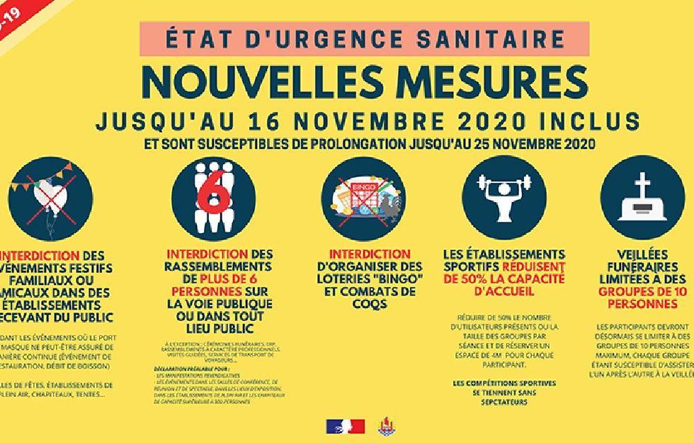 Etat d'urgence sanitaire : les nouvelles mesures officielles