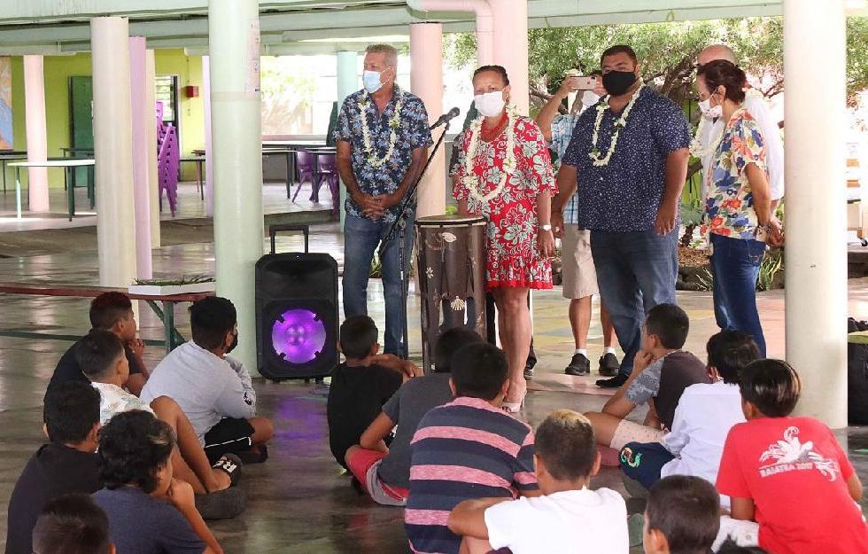 Visite de la ministre de l'Education à Paea et Teva i Uta